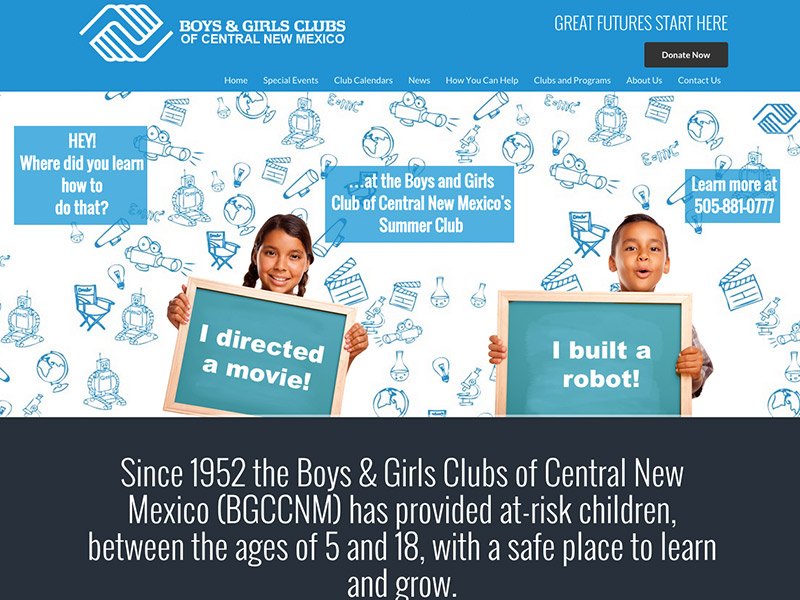 Boy And Girls Club Of Central New Mexico Cliffdweller Digital